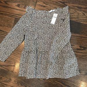 Girls leopard blouse